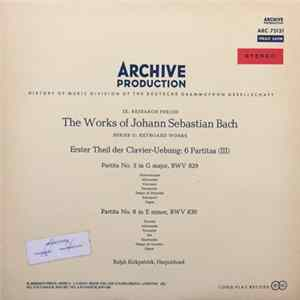 Johann Sebastian Bach − Ralph Kirkpatrick - Erster Theil Der Clavier-Uebung: 6 Partitas (III) (Partita No. 5 In G Major, BWV 829 / Partita No. 6 In E Minor, BWV 830) mp3
