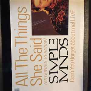 Simple Minds - All The Things She Said / Don't You (Forget About Me) Live mp3